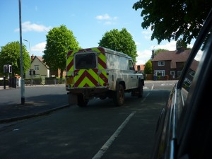 Landrovers gespot  in Engelaned