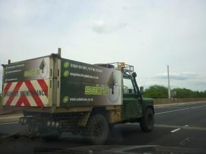 Landrovers gespot in Engeland