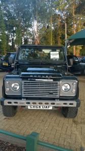 Bezoek aan Harwoods Land Rover in Pulborough.