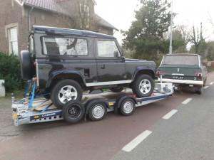 Een service van Landroveronderhoud Midden Nederland is het thuisbrengen van uw geschorste voertuig.