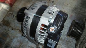 Vervangen dynamo bij Landrover Discovery III, bouwjaar 2007.